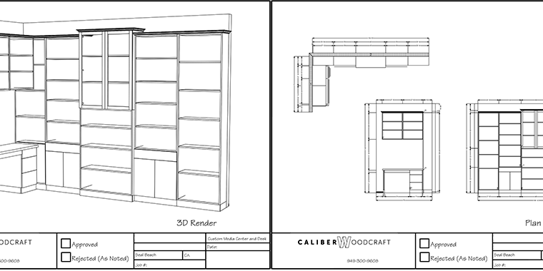 Cabinet Design and Drafting